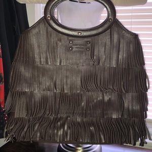 Brown fringe Kate Spade bag